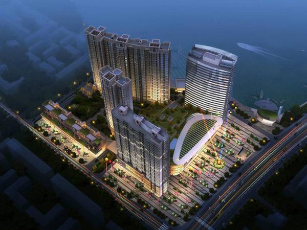安庆汇峰广场商场定制楼梯扶手、空调护栏案例