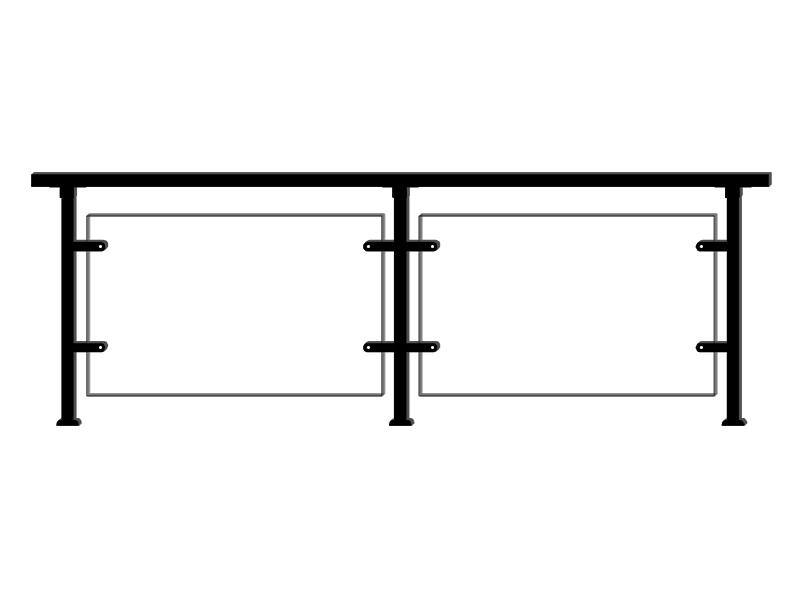 锌钢玻璃护栏