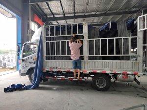 金用护栏2020年7月27日铝合金百叶窗装车发货!