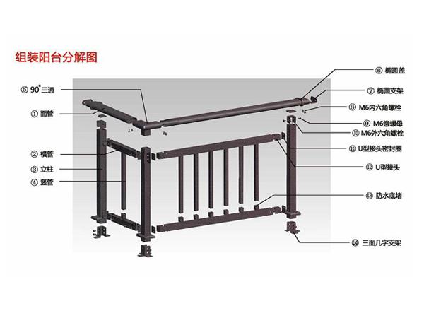 阳台护栏尺寸规格