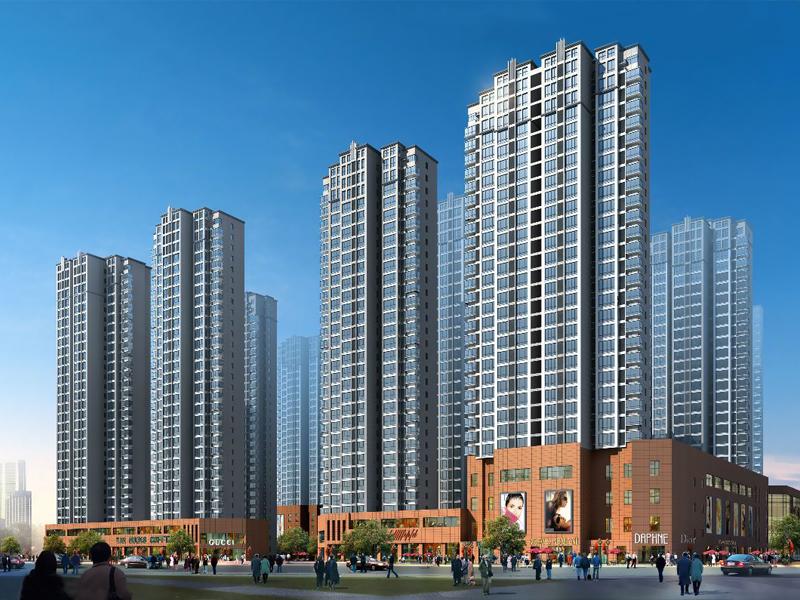 蒙城玖隆国际小区百叶窗、锌钢楼梯扶手定制