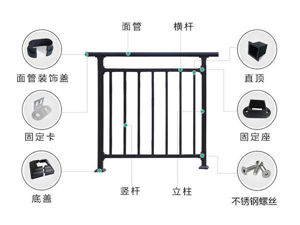 锌钢护栏配件种类大全