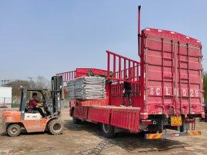 金用护栏2021年3月29日锌钢阳台护栏发货!