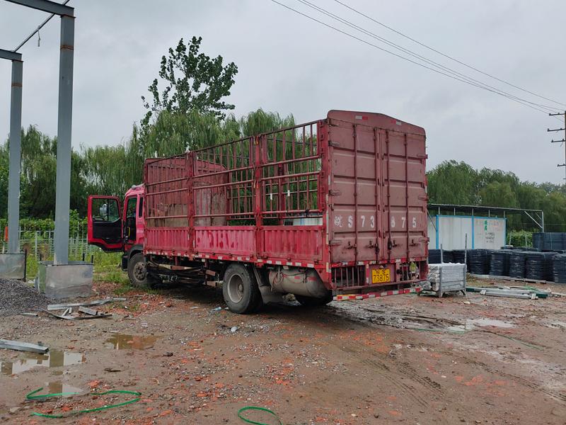 金用护栏2021年8月14日锌钢空调栏杆发货!